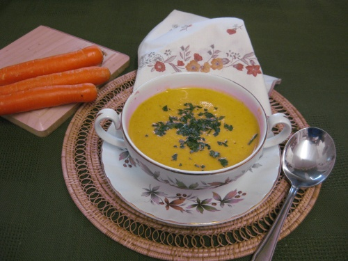 CARROT & LENTIL SOUP  recipe