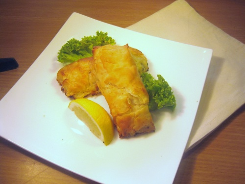 SMOKED SALMON &  CURD CHEESE PARCELS recipe
