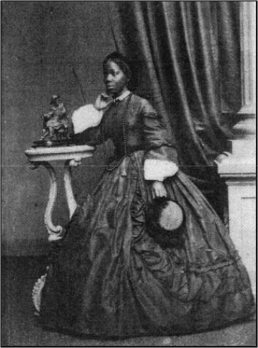 Sally Bonetta Forbes, who became Mrs Sarah Davies on 14 August 1862. A portrait by Merrick & Co.  Taken from The History of Photography in Brighton