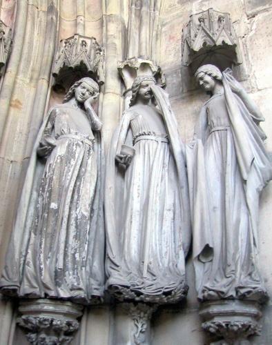 Three Foolish Virgins Magdeburg Cathedral c.1240