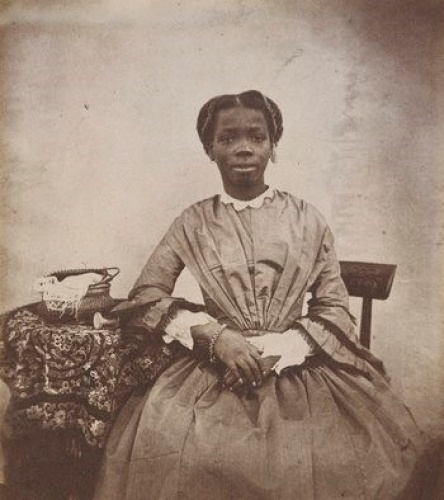 """Sarah was described by Captain Forbes as possessing """"intelligence of no common order"""".  He wrote: She is far in advance of any white child of her age, in aptness of learning, and strength of mind and affection"""". Photograph - Royal Collection Trust rct.uk"""