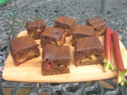 RHUBARB  AND  GINGER  CAKE recipe