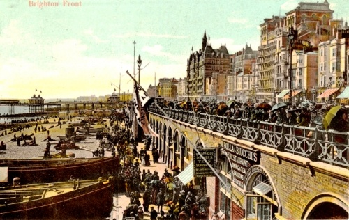 Bolla & Biucchis Restaurant, Kings Road Arches Brighton c.1900