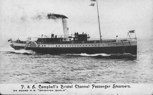 Th e Brighton Queen. Owner P&A Campbell Ltd, Shoreham. Image courtesy hippostcard.com