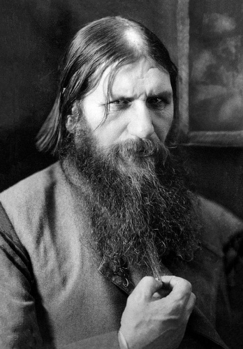 Grigory Rasputin, photographed shortly before his death in 1916, was considered a threat to Empire due to his powerful influence over the Tsarina and Russian royal family (Wikimedia Commons)