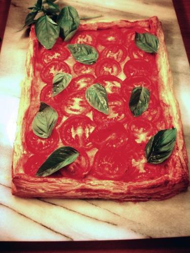 TOMATO & MOZZARELLA  TART recipe