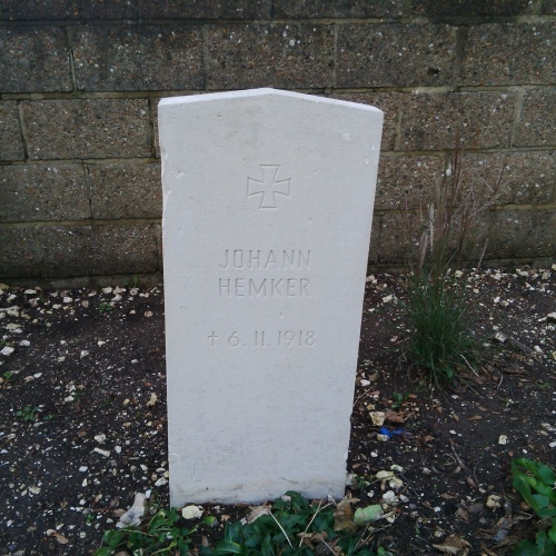 Little is known about Johann Hemker, apart from his year of birth – 1891 - and the dated he died, 6th November 1918.