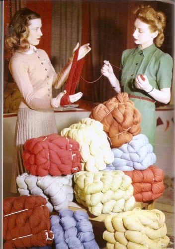 Knitting wool was a very useful material during WW2 and all kinds of garments were knitted, unravelled and re-made, no wool ever being wasted.