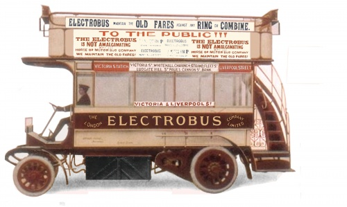 An original hand-tinted picture taken from an advertising flyer that was sent to dozens of local councils, including Brighton and Hove.