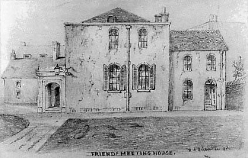 Richard Patching, whose firm – Patching & Son - was established in 1774 and is Brighton's oldest builders, built the new meeting house and caretaker's cottage at a cost of £1,661.  It was opened in 1805. Drawing by W.A. Delamotte, 1853.